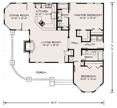 Fireplace Floor Plan by Cute Cottage Floor Plan Love The Porch And Fireplace