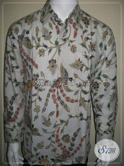 Kemeja Pria Spark Lp Putih busana batik pria lengan panjang warna putih elegan dan