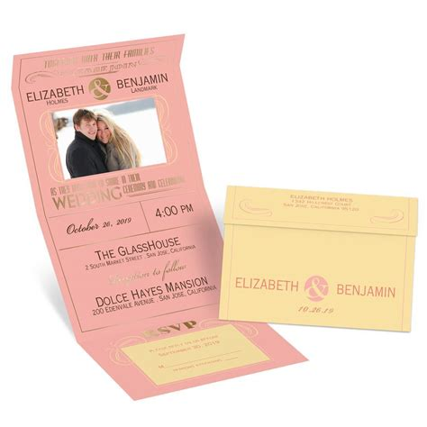 send and seal wedding invitations templates modern foil seal and send invitation invitations