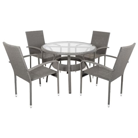Wicker Dining Table Set Ravenna Rattan Wicker Aluminium Garden Patio Dining Table Set With 4 Chairs Ebay
