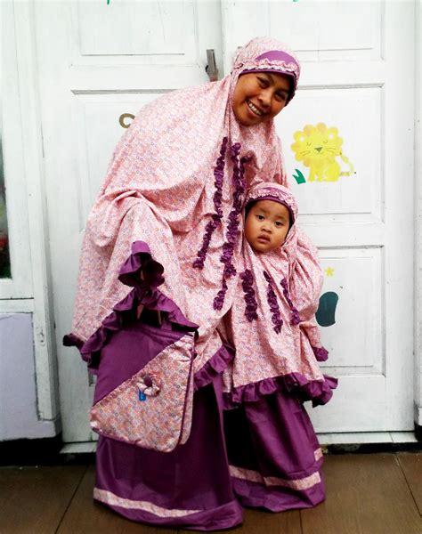Mukena Anak Flower Oren Size S mukena seragam ibu anak toko bunda