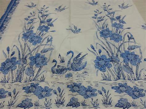 jual kain batik halus encim pekalongan kualitas primis motif angsa biru mapple shop