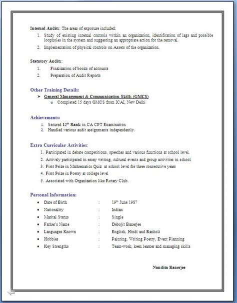 Exle Resume Accounting Year Experience 3 Years Experience Resume In Accounting