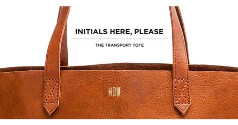 monogram madewell tote leather bag pinterest