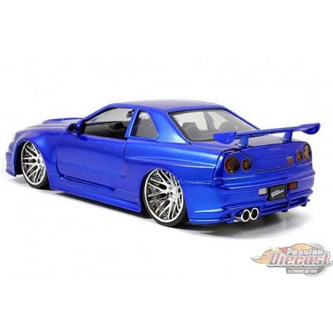 blue nissan skyline fast and furious brian s nissan skyline gt r r34 bleu