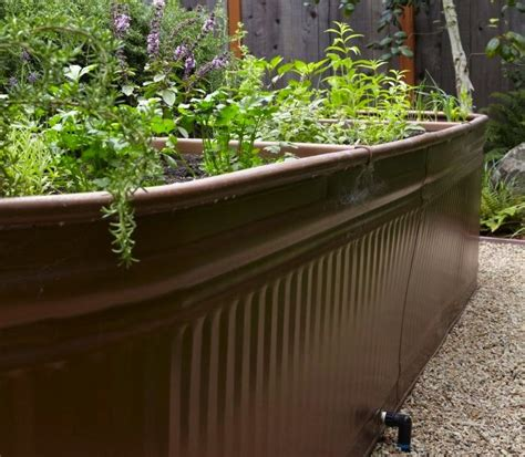 garden wall troughs this look water troughs as raised garden beds