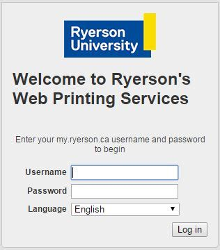 Document Upload Page Ryerson