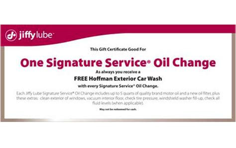 Oil Change Gift Card - jiffy lube gift card lamoureph blog