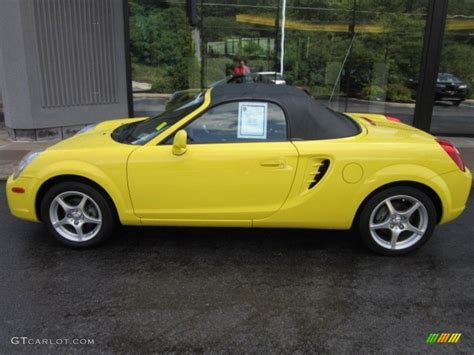 yellow toyota yellow toyota mr2 roadster