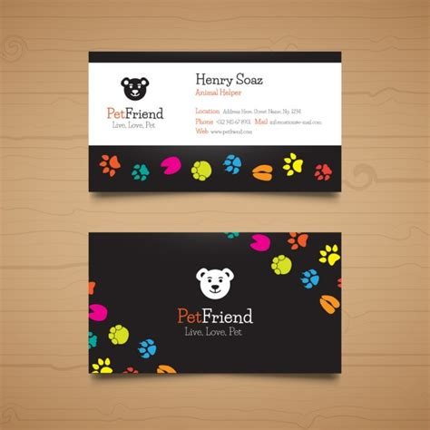 pet business card templates template pet business card vector gratis