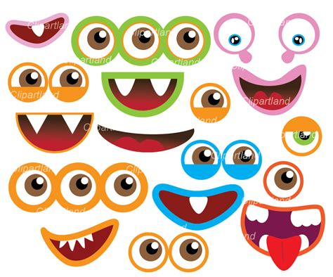free printable monster eyes and mouth monster mouth clipart www imgkid com the image kid has it