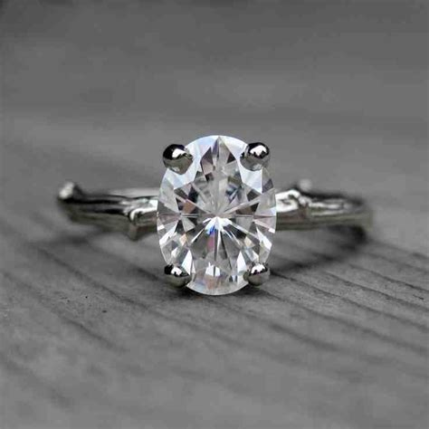 moissanite engagement rings etsy wedding and bridal