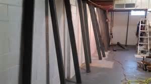 bowed basement walls beam installations milwaukee bowed walls waukesha