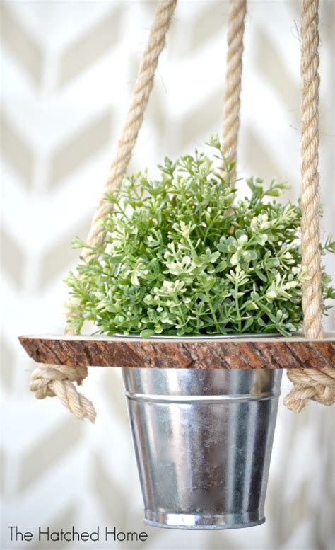 Rope Hanging Planter - diy hanging planters that will make your home fresher than