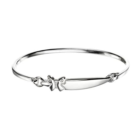 white gold bracelets engraved baby sterling silver