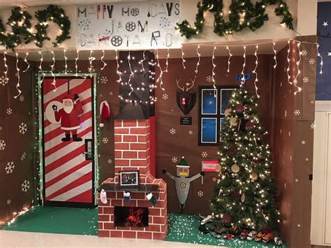 door christmas decoration contest door contest decoration outline grinch decorating ideas the at work this entry dr