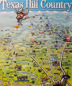 hill country map poster hill country