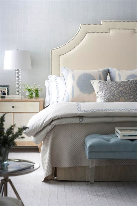 blue bedroom bench ivory ice blue bedroom leather headboard with silver