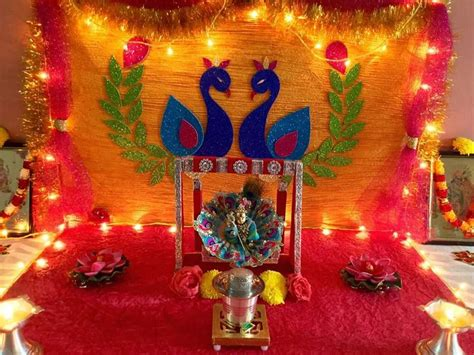 home decoration for janmashtami krishna janmashtami jayanthi gokul ashtami decoration