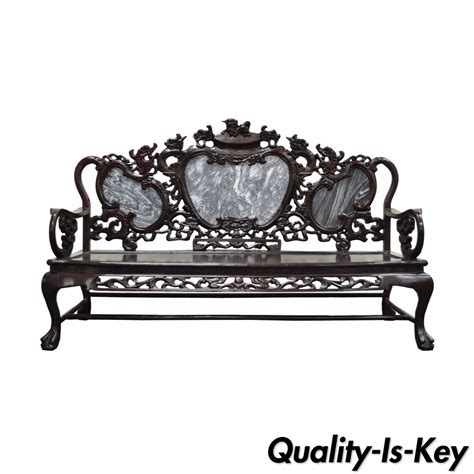 Patio Furniture Ebay Vintage Oriental Chinese Japanese Dragon Carved Mahogany