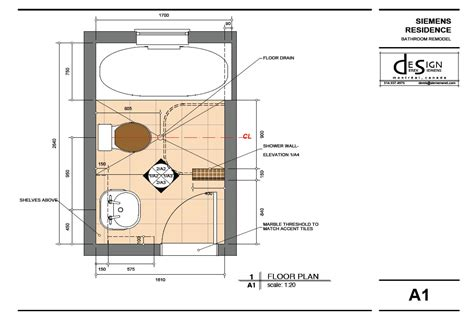design bathroom floor plan highdesign gallery derek siemens krebs design