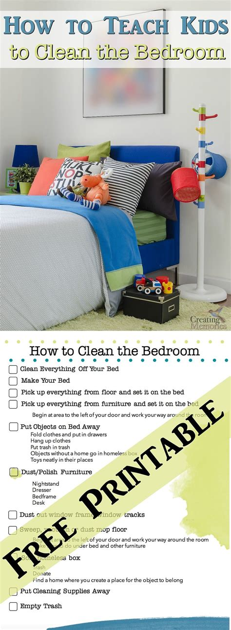 How Do You Clean Your Bedroom by Teach To A Clean Room Bedroom Checklist