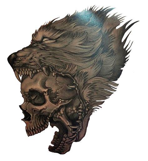 wolf skull tattoo wolf skull http 3d tattoodesign hd wolf