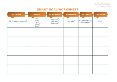 48 smart goals templates exles worksheets template lab