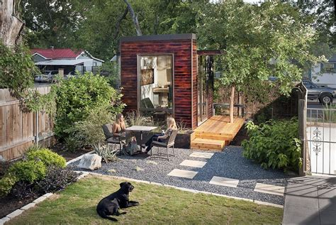 tiny house in backyard sett studio s backyard office is the next tiny home trend popsugar home