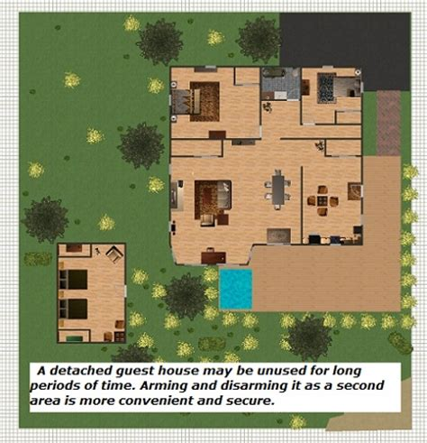 house plans with detached guest house security alarm custom security alarm
