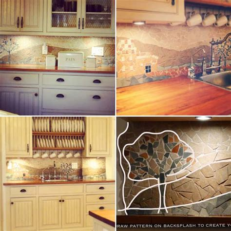 diy backsplash kitchen 24 cheap diy kitchen backsplash ideas and tutorials you