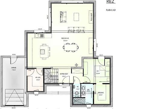 Plan Maison En T 4518 plan maison en t avis plan maison 150m en t de plein pied