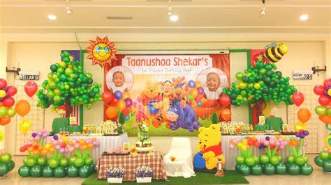 themes birthday theme winnie the pooh 1st birthday bash its more than