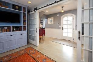 Cape Cod Rug Sliding French Doors Interior Entry Farmhouse With Back