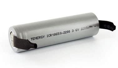 Battery 18650 Lithium Ion 3 6v 2200mah Flat tenergy li ion 18650 3 6v 2200mah battery with tabs ul listed