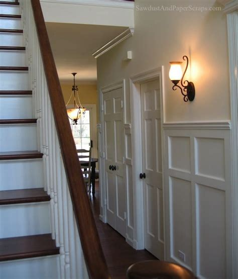 how tall should wainscoting be house tour downstairs hallway and powder room sawdust