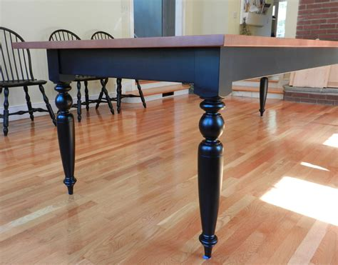 Dining Room Farm Tables by Tiger Maple Dining Room Table W Turned Legs Hawk Ridge