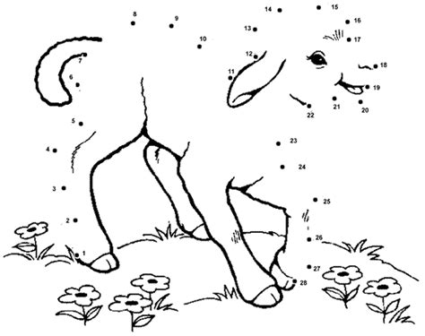 printable dot to dot sheep the sheep dot to dot