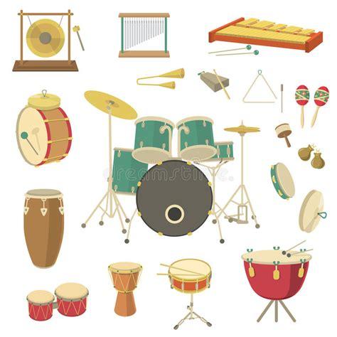 clipart strumenti musicali strumenti musicali a percussione illustrazione vettoriale
