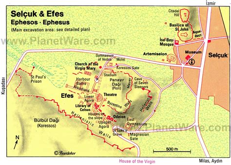 ephesus map ephesus turkey about interesting places