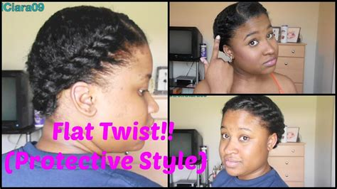 what type of hair is use for big box braids flat twist protective style natural hair tutorial