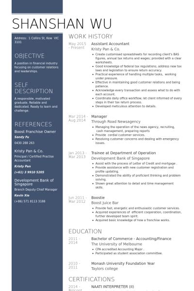 assistant accountant resume sles visualcv resume