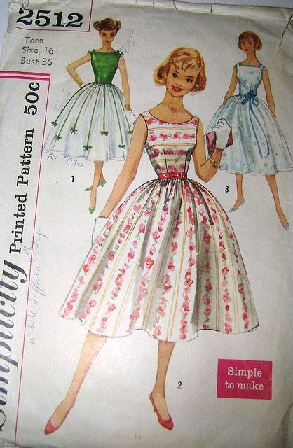 envelope dress pattern vintage 1950s party dress pattern from simplicity 2512
