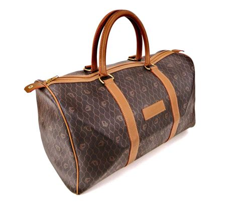 dior keepall  duffle brown monogram canvas leather