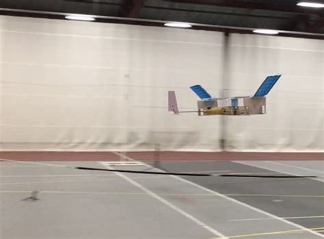 drone plane with ion drive meets drone as small plane flies with no moving