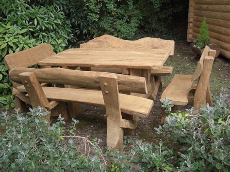 outdoor benches and tables bench and table set 2 the rustic summer house