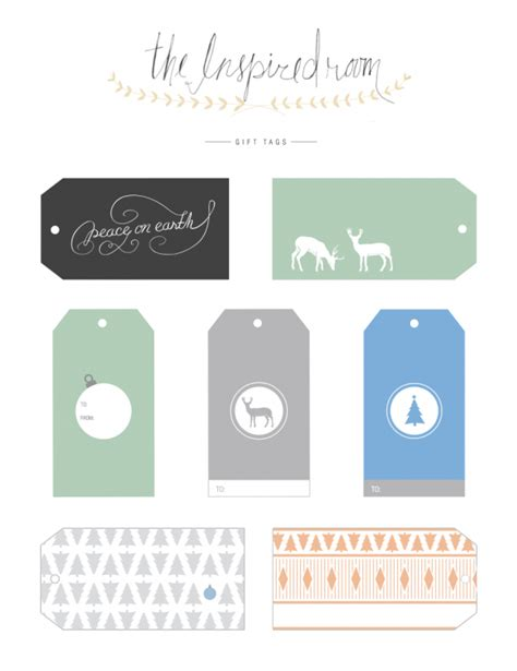 printable gift tags customized free adorable free printable gift tags the inspired room