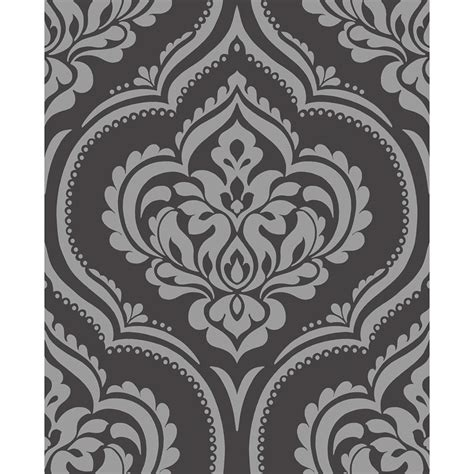 black damask wallpaper home decor the best 28 images of black damask wallpaper home decor