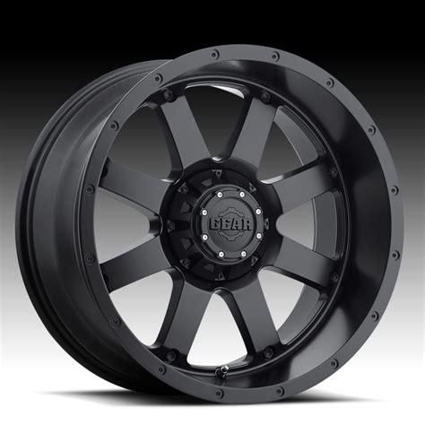 big alloy wheels gear alloy 726b big block satin black custom wheels rims