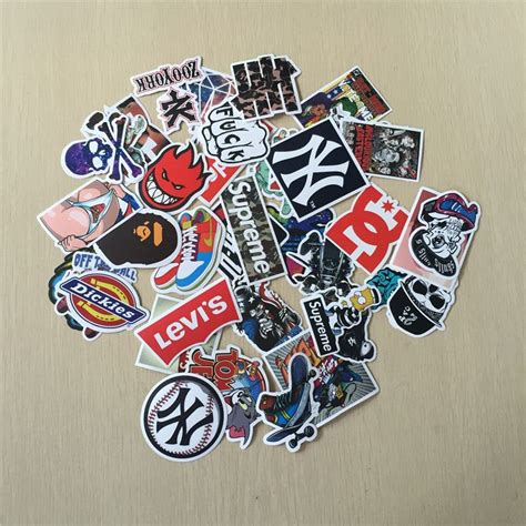 40 pcs skateboard stiker non berulang keren stiker home decor stiker laptop stiker kulkas kartun